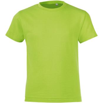 Abbigliamento Unisex bambino T-shirt maniche corte Sols 01183 Verde mela
