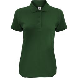 Abbigliamento Donna Polo maniche corte B And C Safran Verde bottiglia