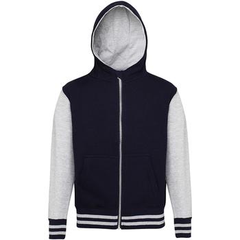 Abbigliamento Unisex bambino Felpe Awdis JH51J Blu/Grigio