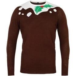 Abbigliamento Uomo Maglioni Christmas Shop CS155 Marrone/Bianco