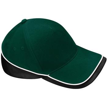 Accessori Cappellini Beechfield B171 Verde bottiglia/Nero/Bianco