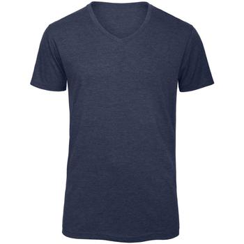 Abbigliamento Uomo T-shirt maniche corte B And C TM057 Blu navy screziato
