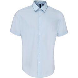 Abbigliamento Uomo Camicie maniche corte Premier PR209 Azzurro