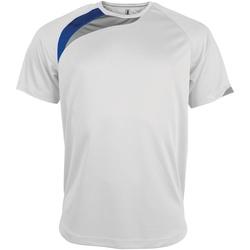 Abbigliamento Uomo T-shirt maniche corte Kariban Proact PA436 Bianco/Blu Reale/Grigio