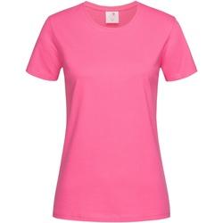 Abbigliamento Donna T-shirt maniche corte Stedman  Rosa chiaro