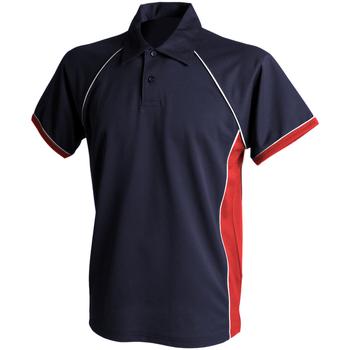 Abbigliamento Uomo Polo maniche corte Finden & Hales Piped Blu navy/Rosso/Bianco