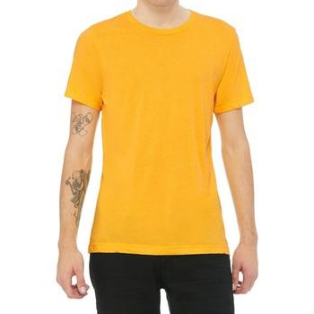 Abbigliamento Uomo T-shirt maniche corte Bella + Canvas CA3413 Giallo Dorato