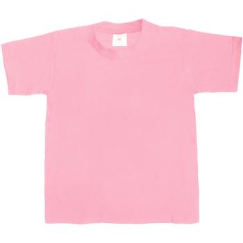 Abbigliamento Unisex bambino T-shirt maniche corte B And C Exact 190 Rosa antico