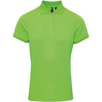 Abbigliamento Donna Polo maniche corte Premier PR616 Verde neon