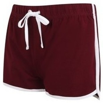 Abbigliamento Donna Shorts / Bermuda Skinni Fit SK069 Borgogna/Bianco