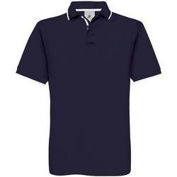 Abbigliamento Uomo Polo maniche corte B And C BA351 Blu navy/Bianco