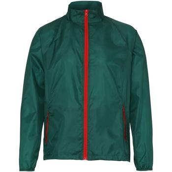 Abbigliamento Uomo giacca a vento 2786  Bottiglia/Nero
