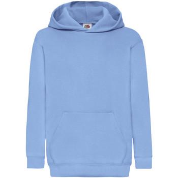 Abbigliamento Unisex bambino Felpe Fruit Of The Loom 62043 Azzurro cielo