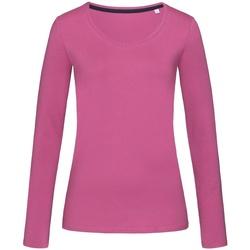 Abbigliamento Donna T-shirts a maniche lunghe Stedman Stars  Rosa intenso