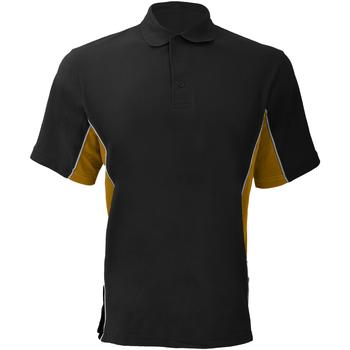 Abbigliamento Uomo Polo maniche corte Gamegear KK475 Nero/Oro/Bianco