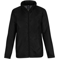 Abbigliamento Uomo giacca a vento B And C JM825 Nero/ Grigio
