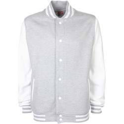 Abbigliamento Giubbotti Fdm FV001 Grigio Screziato/Bianco