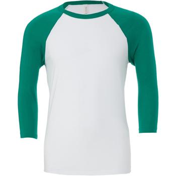 Abbigliamento Uomo T-shirts a maniche lunghe Bella + Canvas CA3200 Bianco/Verde kelly