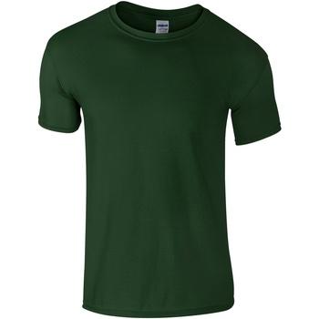 Abbigliamento Uomo T-shirt maniche corte Gildan Soft-Style Verde foresta