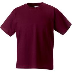 Abbigliamento Unisex bambino T-shirt maniche corte Jerzees Schoolgear ZT180B Bordeaux