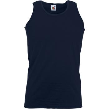 Abbigliamento Uomo Top / T-shirt senza maniche Fruit Of The Loom 61098 Blu scuro