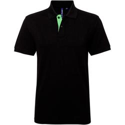 Abbigliamento Uomo Polo maniche corte Asquith & Fox AQ012 Nero/Lime