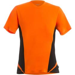 Abbigliamento Uomo T-shirt maniche corte Gamegear KK969 Arancione Fluo/Nero