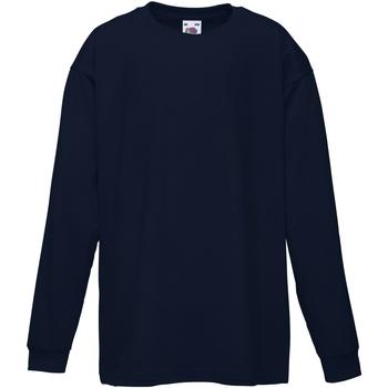 Abbigliamento Unisex bambino T-shirts a maniche lunghe Fruit Of The Loom 61007 Blu scuro