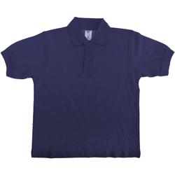 Abbigliamento Unisex bambino Polo maniche corte B And C PK486 Blu navy