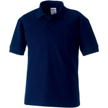 Abbigliamento Bambino Polo maniche corte Jerzees Schoolgear 539B Blu scuro