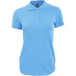 Abbigliamento Donna Polo maniche corte Sols 11347 Azzurro cielo