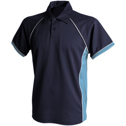Abbigliamento Uomo Polo maniche corte Finden & Hales Piped Blu navy/Cielo/Bianco