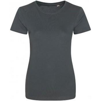 Abbigliamento Donna T-shirt maniche corte Ecologie EA01F Carbone