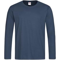 Abbigliamento Uomo T-shirts a maniche lunghe Stedman  Blu navy