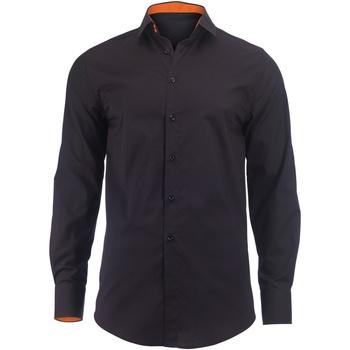 Abbigliamento Uomo Camicie maniche lunghe Alexandra Hospitality Nero/Arancione