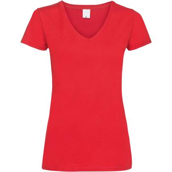 Abbigliamento Donna T-shirt maniche corte Universal Textiles Value Rosso brillante