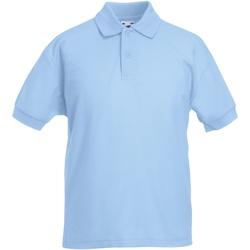 Abbigliamento Bambino Polo maniche corte Fruit Of The Loom 63417 Azzurro cielo