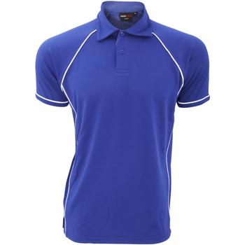 Abbigliamento Uomo Polo maniche corte Finden & Hales Piped Blu reale/Bianco