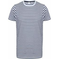 Abbigliamento T-shirt maniche corte Skinni Fit SF202 Bianco/Blu Navy
