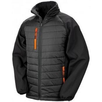 Abbigliamento Uomo Piumini Result Compass Nero/Arancione