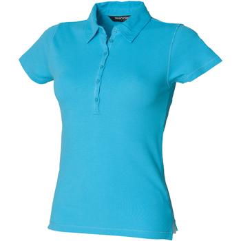 Abbigliamento Donna Polo maniche corte Skinni Fit SK042 Azzurro mare