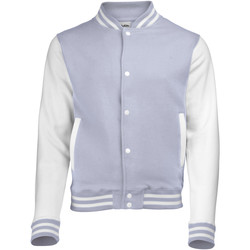 Abbigliamento Unisex bambino Giubbotti Awdis JH43J Erica grigia/Bianco