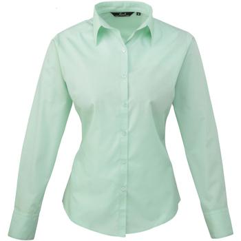 Abbigliamento Donna Camicie Premier PR300 Verde acqua