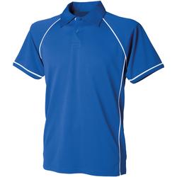 Abbigliamento Unisex bambino Polo maniche corte Finden & Hales LV372 Blu reale/Bianco