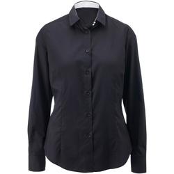 Abbigliamento Donna Camicie Alexandra AX060 Nero/Bianco