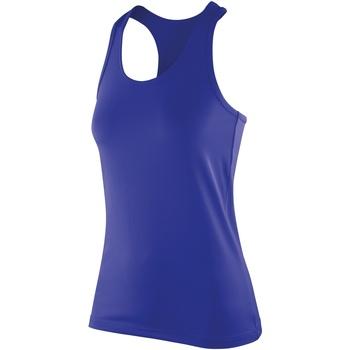 Abbigliamento Donna Top / T-shirt senza maniche Spiro SR281F Zaffiro