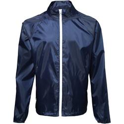 Abbigliamento Uomo giacca a vento 2786  Blu navy/Bianco