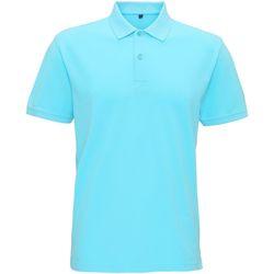 Abbigliamento Uomo Polo maniche corte Asquith & Fox AQ017 Azzurro oceano