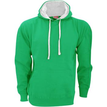 Abbigliamento Uomo Felpe Fdm FH002 Verde kelly/Bianco