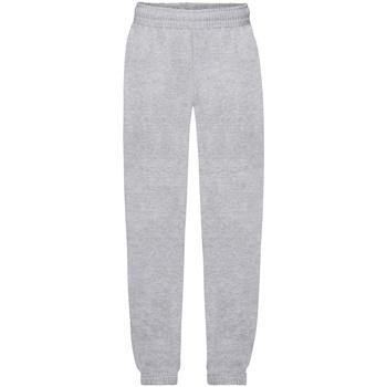 Abbigliamento Unisex bambino Pantaloni da tuta Fruit Of The Loom 64051 Erica grigia